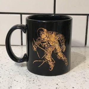 NASA Alabama Astronaut Black & Gold Vintage Mug